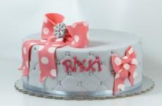 Pink bow birthday cake
