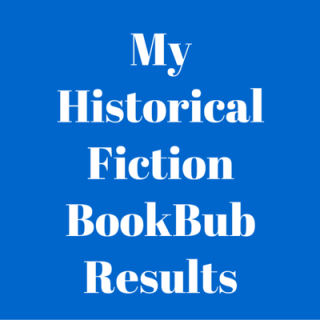 My Historical Fiction BookBub Results