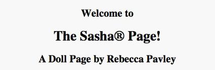 Sasha Doll Rebecca Pavley