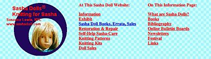 Sasha Dolls Information