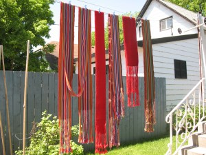 Sashes out to dry