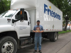 Friesen's Printing truckdriver delivers the 2nd edition