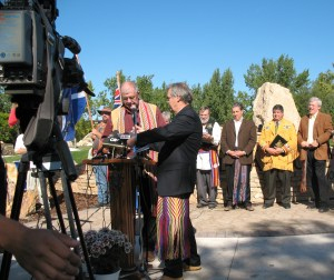 Dedication of the Elzéar Goulet Park