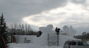 Snow carving 2
