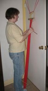weaving on a door frame