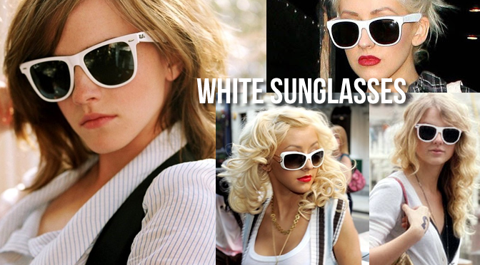 white sunglasses the ultimate summer hairstyle