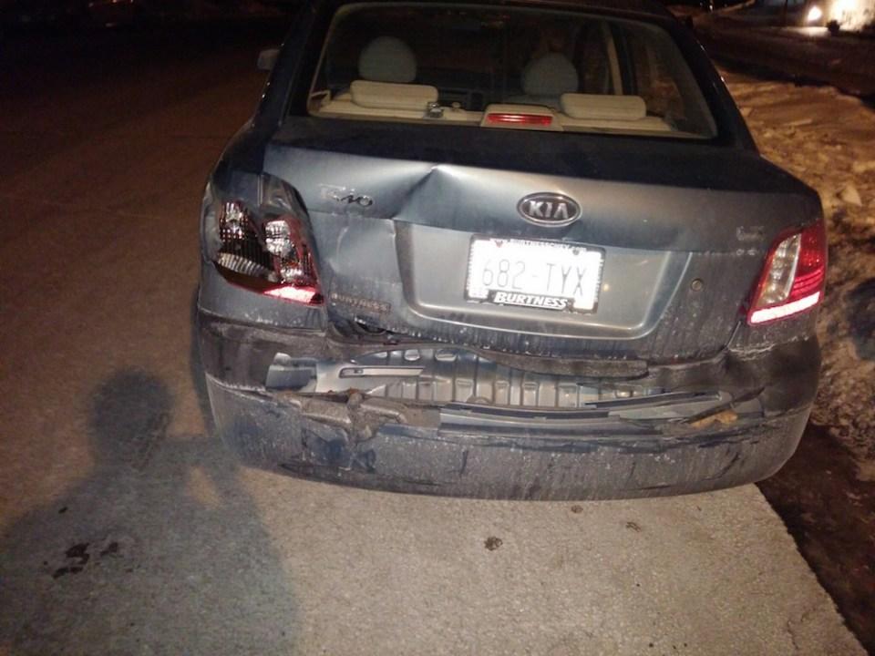Smashed Kia Rio