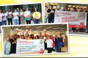 Sauberkeit hat ihren Preis! KollegInnen von  Hago, WISAG Nord Nordwest & Kiefer unterstützen Tarifforderungen