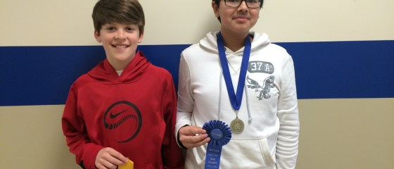 Steven Cagle fourth place Computation in 7th grade and Aaron Jones finished first in Reasoning  in 7th grade