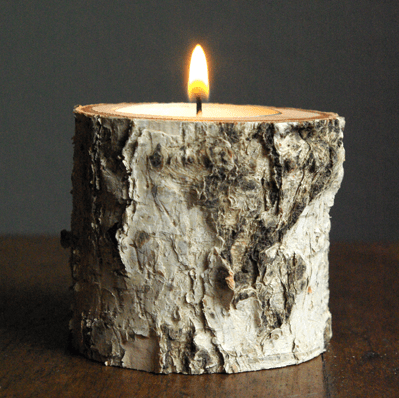 How to Make Candle Holders from Branch #DIY #Handmade #Christmas #Gifts