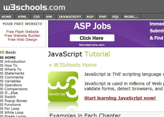w3School 15 Best Websites that can make you a Web Designer