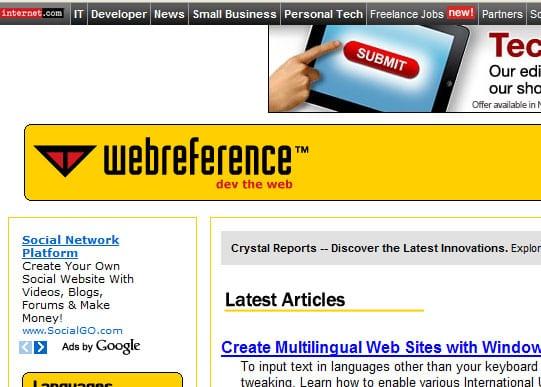 webrefrence 15 Best Websites that can make you a Web Designer
