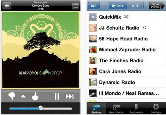 pandora on ipad2 Top 10 Best And Free Music iPad Apps