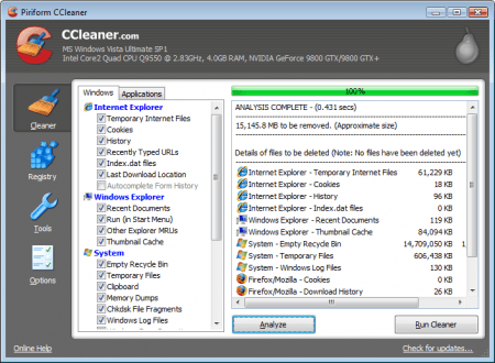 CCleaner e1281942821615 Must Have Software   15 Free Programs For Windows 7