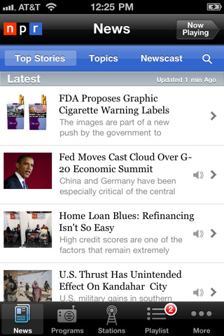 NPR NEWs Top 100 Best Free iPhone 4 Apps