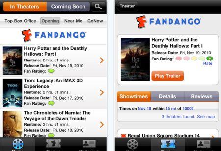 fandango Top 100 Best Free iPhone 4 Apps