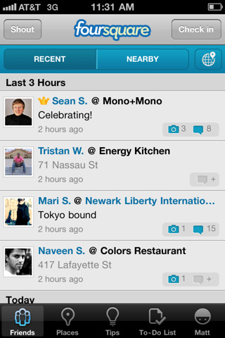 foursquare Top 100 Best Free iPhone 4 Apps
