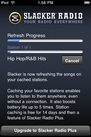 slacker radio Top 100 Best Free iPhone 4 Apps