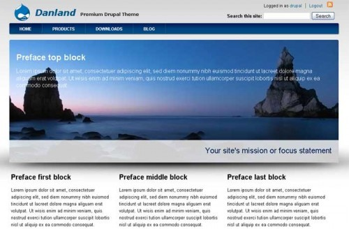 best free drupal theme31 e1300085324503 40 High Quality Drupal Themes For Free Download