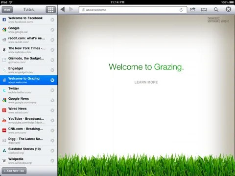 Grazing Web Browser Top 10 Best Apple iPad Web Browsers For Improved Browsing