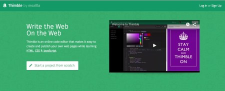Screenshot of Thimble - free online html editors