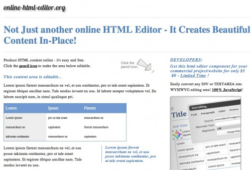 screen capture 7 e1301982437797 Top 10 Online HTML Editors That Are Simple And Free To Use