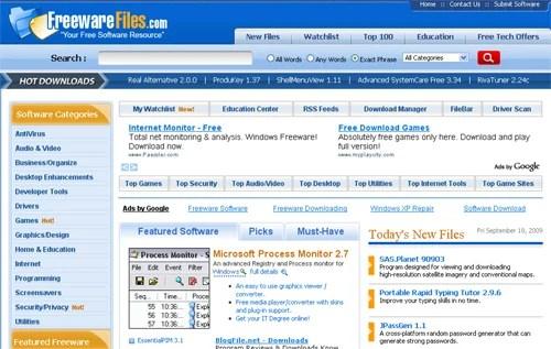 freewarefiles Top 10 Best Free Software Download Sites