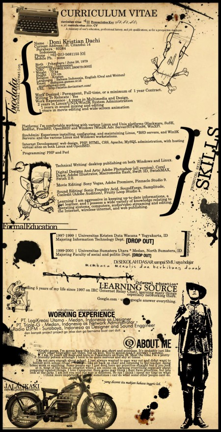 234 e1269808749758 100 Most Creative Resume Examples for Inspiration