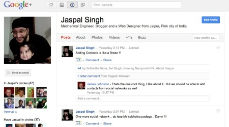 Screen shot 2011 07 01 at 11.29.23 AM 450x249 5 Things Google Plus Have Over Facebook   Plus One