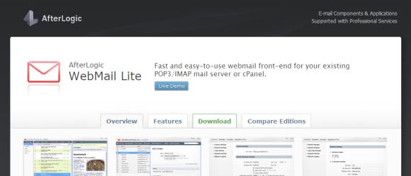 AfterLogic WebMail Lite — free ajax webmail 580x249 Top 7 Webmail Software