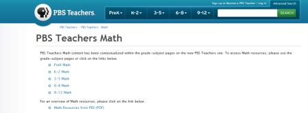 PBS Teachers PBS Teachers . Math 450x166 25 Great Websites For Learning Maths