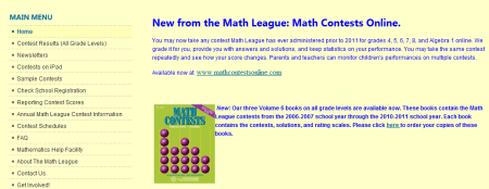 Welcome to the Math League 450x174 25 Great Websites For Learning Maths