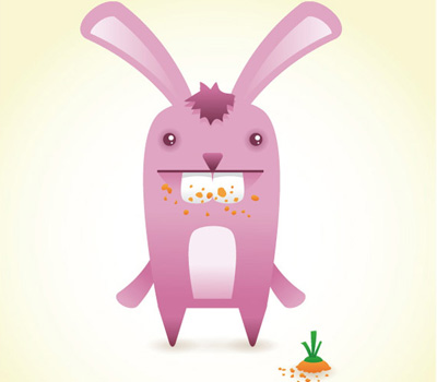 bunny 80 Excellent Adobe Illustrator Cartoon Tutorials