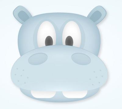 simple hippo 80 Excellent Adobe Illustrator Cartoon Tutorials