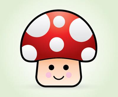 vector mushroom 80 Excellent Adobe Illustrator Cartoon Tutorials