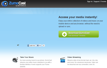 ZumoCast 450x285 Best Entertainment Websites On The Web in 2011