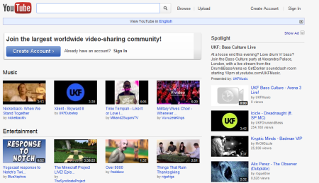 youtube 450x259 Best Entertainment Websites On The Web in 2011