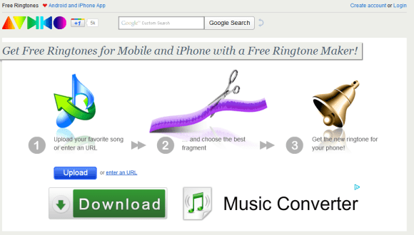 Audiko 580x330 Top 10 Websites For Free iPhone Ringtones