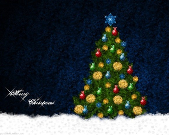 christmaswallpapers80 580x464 50+ Beautiful Christmas Wallpapers for your Desktop