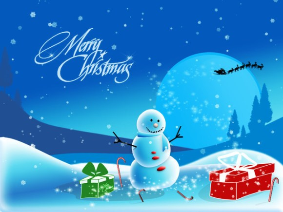 christmaswallpapers81 580x435 50+ Beautiful Christmas Wallpapers for your Desktop
