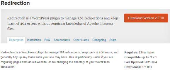 redirection 580x257 Best WordPress Plugins for Backup and Optimization