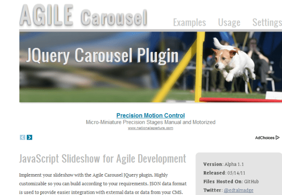 AGILE Carousel 580x402 43 Best jQuery Carousel Sliders, Plugins, Tutorials and Examples