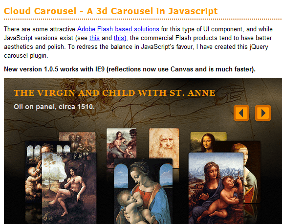 Cloud Carousel 43 Best jQuery Carousel Sliders, Plugins, Tutorials and Examples