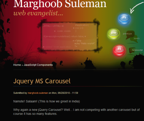 Jquery MS Carousel 580x489 43 Best jQuery Carousel Sliders, Plugins, Tutorials and Examples