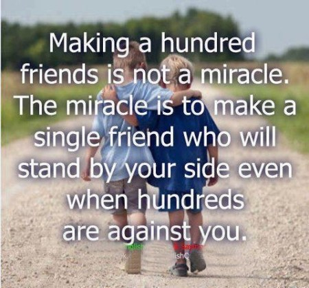 making a hundred friends 450x419 Best Friend Quotes in Images