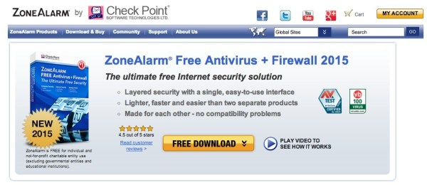 Check Point ZoneAlarm Free Antivirus + Firewall 600x260 10 Most Advisable Free Antivirus Software