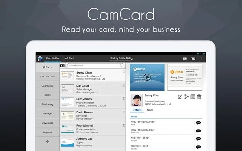CamCard Free 100 Best Free Android Apps for Superusers