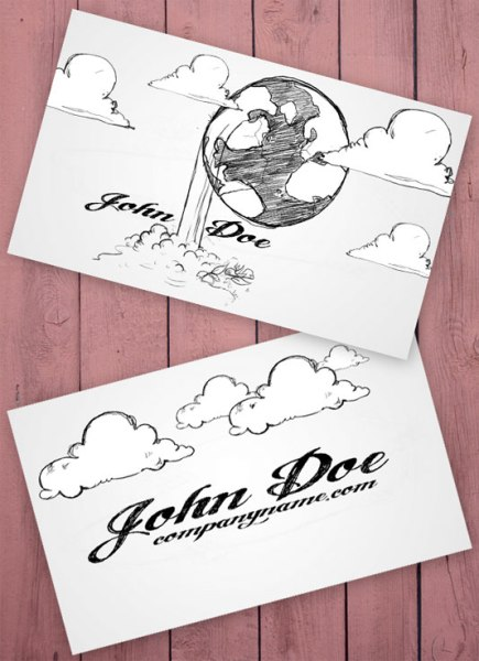 Cartoon 435x600 75 Best Free Business Card Templates Worth Downloading