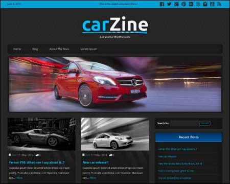 Carzine Free WordPress Theme