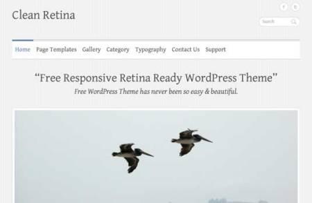 Clean Retina 450x294 75 Best Free Wordpress Themes of 2014 Till July